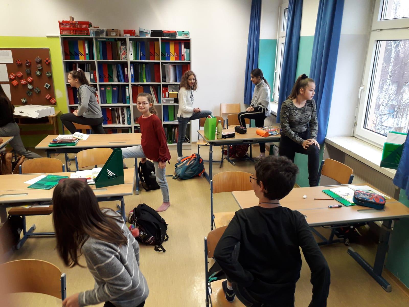 Bewegte Pause im Unterricht – 2b